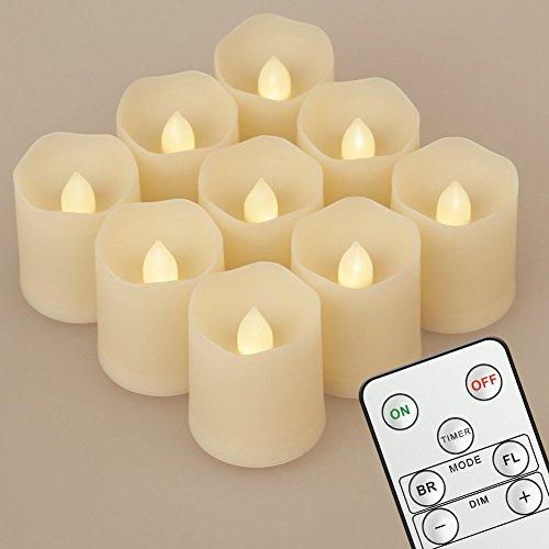 9 kleine LED-Stumpenkerzen