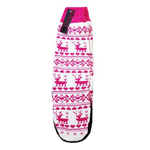 Donna fair isle Fleece calza calzini Inverno chiuseuomo taglia unica Rosa