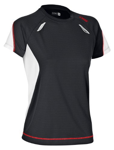 Rono, Maglietta sportiva Donna Dry Cool Nero (Black)