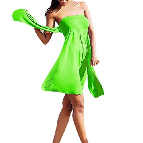 SHE.White Damen MehrerefarbeTankini Set Bikini Badebekleidung Hochdrücken Gepolstert BH Strandkleidung Strandkleid V-Ausschnitt Lang Kleid Sommer Strand Wickelkleid Bademantel Handtuch Schwimmen