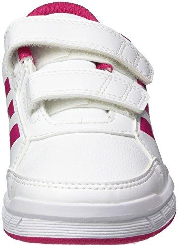 adidas Altasport Cf, Chaussures de Fitness Fille, Blanc/Rose Blanc (Ftwr White/Bold Pink/Ftwr White)
