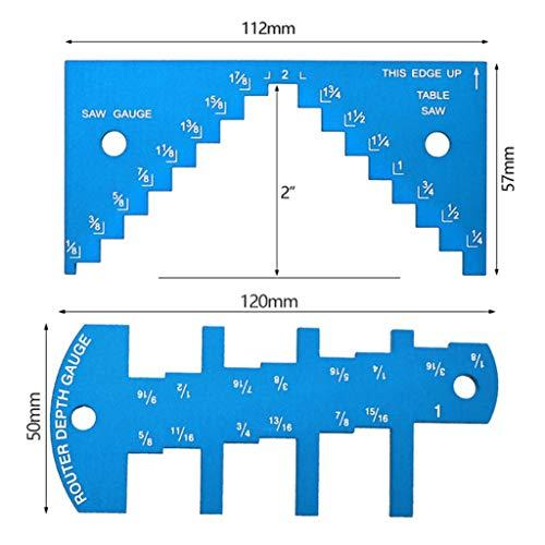 Moent Werkzeuge & Heimwerker Aluminiumlegierung Tiefenmesser Sägemesser 1/8 bis 2-1/4 Zoll für Tischsäge Router Registerkarte Konturmesser