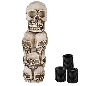 Outbit Schaltknauf - Skeleton Skull Head Many Faces Auto Manueller...