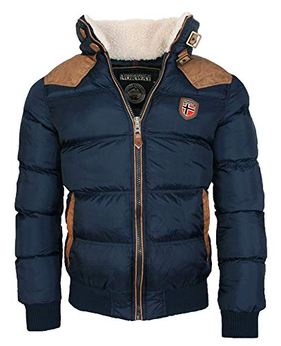 Geographical Norway warme Winterjacke Designer Herren Winter Stepp Jacke [GeNo-31-Navy-Gr.3XL]