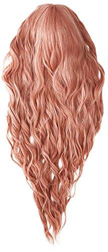len Wurzeln Ombre Cosplay Halloween Perücke für Frauen gelockt Welle Haar Perücken Cap/dark violett RF11 (Halloween Schädel Zu Ziehen)