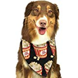 Popcorn Repeat Pattern Dog Cat Bandanas Triangle Bibs Scarf Dog Neckerchief Headkerchief Accessories