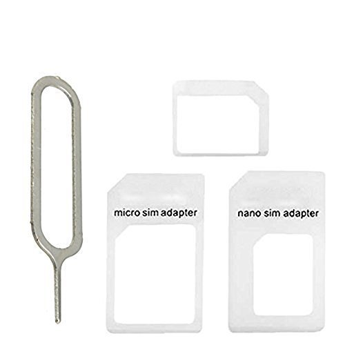 Head Nik SIM CARD Adapter Nano to Micro - Nano to Regular - Micro to Regular With eject pin (White)  available at amazon for Rs.99