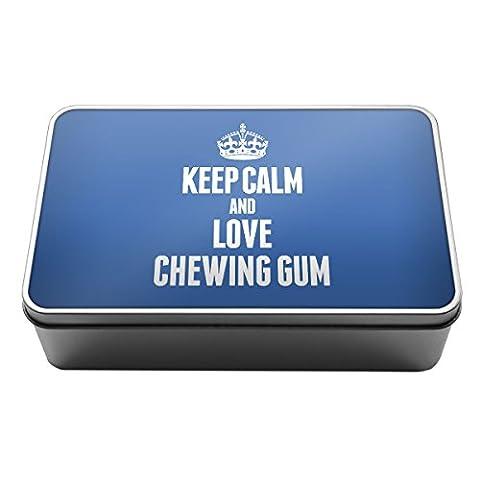 Bleu Keep Calm and Love Chewing Gum Boîte de rangement