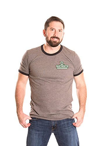 Mens Heather Ringer T-shirt (Alma Mater NCAA Herren Ringer T-Shirt, Herren, Men's Ringer, Heather Grey/Black, Medium)
