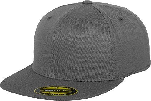 Flexfit Erwachsene Mütze Premium 210 Fitted, grau (darkgrey), S/M (Snapback Baseball-mütze,)