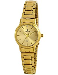 Maxima Analog Gold Dial Unisex Watch-26790CMLY