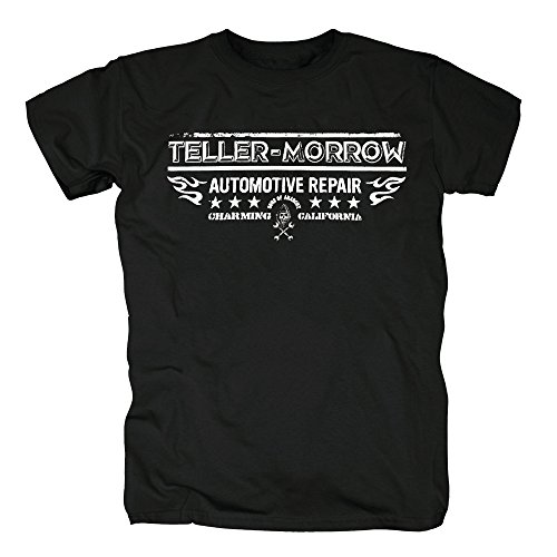 TSP Sons of Anarchy - Teller Morrow Repair T-Shirt Herren S Schwarz (Sons Of Anarchy-kostüme Für Halloween)