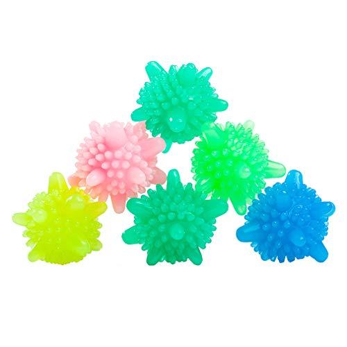 Zhongke Wäsche Ball Reinigung Wiederverwendbare Wäschetrockner Wäsche Waschen nützlich Flauschige Anti-Wickel Zufällige Farbe 8 Stücke
