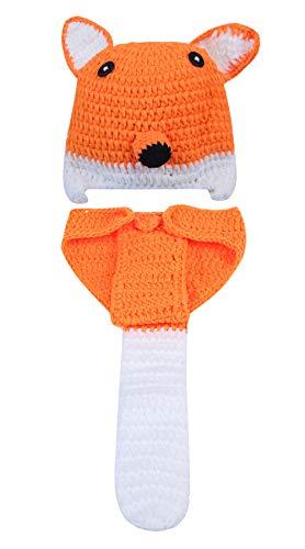 Happy Cherry Baby Jungen Mädchen Photography Prop Neugeborene Fuchs Kostüm Hut Strick Crochet - Süßes Fuchs Mädchen Kostüm