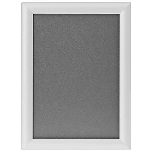 kaufdeinschild Weißer A1 Klapprahmen auf Gehrung Snap Frame 25mm Plakatrahmen Posterrahmen (Weiß-snap)