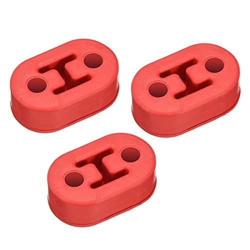 Sourcingmap rot Silica Gel Dual Löcher verstärkt Schalldämpfer Auspuff Kleiderbügel BUSCHING 3 (Ford Ranger Auspuff)