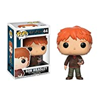 Funko pop Movies Harry Potter-Ron Weasley with Scabbers Toy (Ron With Scabbers 14938)
