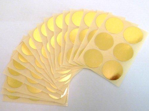 102 Etichette , 25mm Diametro Rotondo , Lucido Oro , Colore Codice Adesivi , autoadesivo Adesivo Colorato Pallini