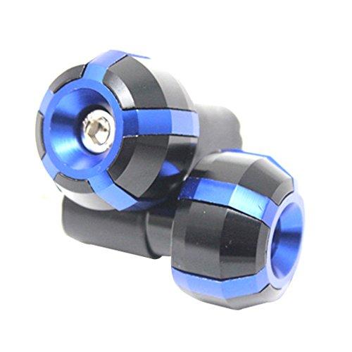 Motorrad Zyklus Fahrrad Aluminium Lenkerenden Griffe Stecker Kappen Blau