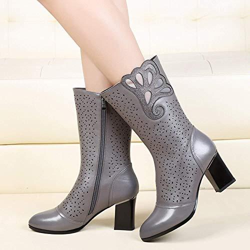 Oudan Die bedienmöglichkeit des Systems der einzelnen Stiefel der Frauen des Diamant mit Die Schlittschuhe high-Heeled Caric der sistemaare die bedienmöglichkeit...