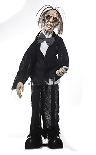 Halloween Zombie Butler animiert 75cm