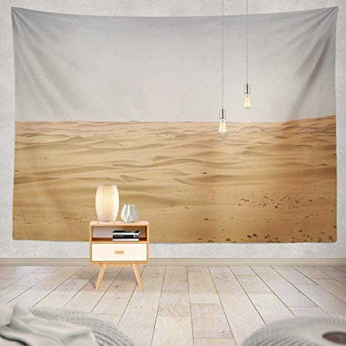 gthytjhv Tapisserie Decor Collection, Beautiful Desert Sand Desert Landscape Sahara Sand Adventure Africa Bedroom Living Room Dorm Wall Hanging Tapestry Polyester & Polyester Blend -