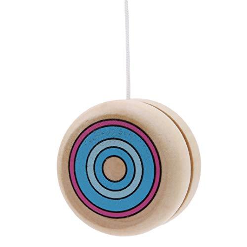 JOOFFF Yo-Yo Spielzeug Kreative Personalisierte Holz Mini Yo-Yo Holz Classic Toy Yo-Yo Weihnachten Geburtstagsgeschenk für Ihre Kinder, blau