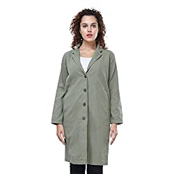 MansiCollections Olive Green Long Coat for Women