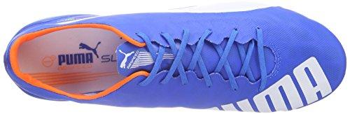 Puma Evospeed Sl Fg, Chaussures de football homme Bleu - Blau (electric blue lemonade-white-orange clown fish 03)