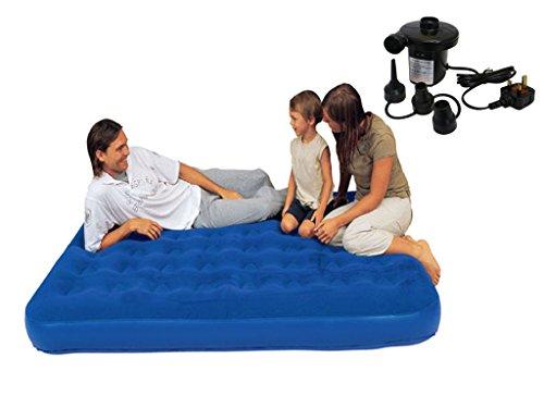 Fineway Wasserdicht Double Comfort beflockte Luftbett mit Pumpe