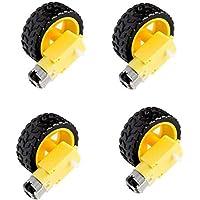 Robocraze Dual Shaft BO motor with wheel (4 Pcs each)