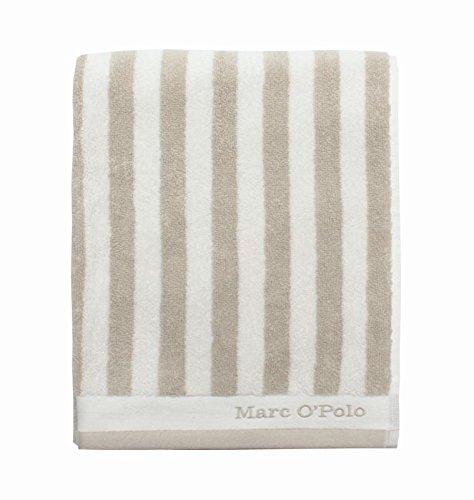 Marc O'Polo Duschtuch Classic Stripe Towel 70x140cm, Farbe Oatmeal/white