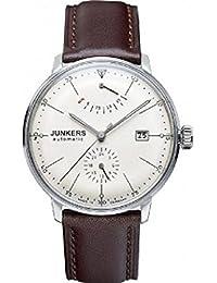 Junkers 60605 - Reloj analógico automático para hombre con correa de piel, color marrón