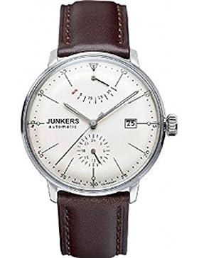 Junkers Herren-Armbanduhr XL Bauhaus Analog Automatik Leder 60605