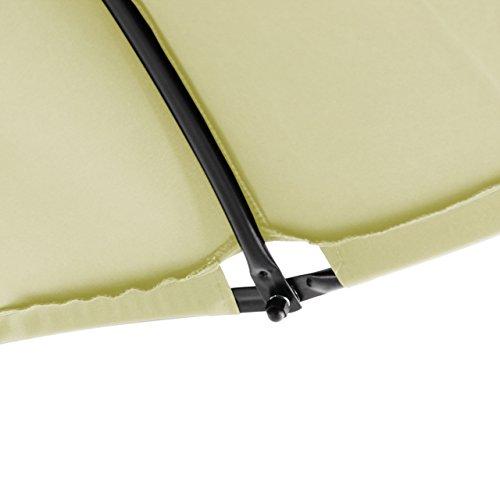 Nexos ZGC34351 Luxus Schwebeliege Beige Schwingliege Relaxliege Hängeliege Sonnenliege Hängeschaukel Inklusive Sonnenschirm - 5