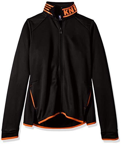NBA by Outerstuff NBA Youth Girls New York Knicks Aviator Full Zip Jacket, Black, Youth X-Large(16)