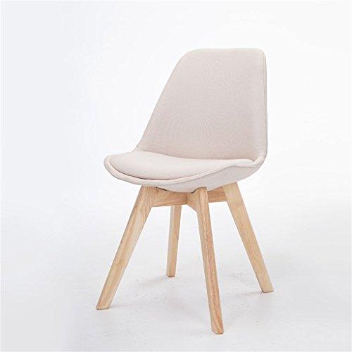 ALUK - High stools/Folding chairs Moderne nordischen Stil Einfache Esszimmer Stuhl Massivholz Esszimmer Stuhl Tuch Haus Casual Fashion Dining Chair Stuhl Hocker Barhocker/Tischhocker (Farbe : Beige) (Esszimmer Stuhl, Moderne)