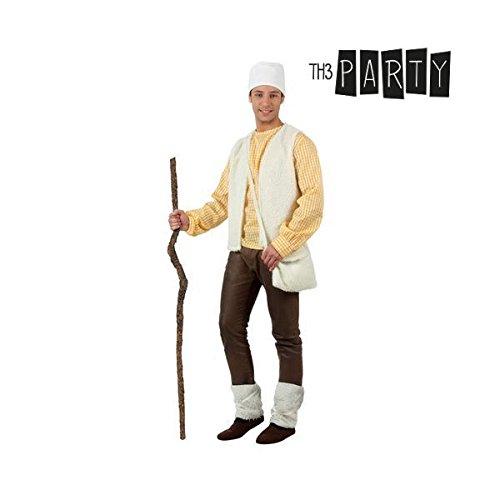 atosa-32152atosa-32152-disfraz Pastore Uomo Adulto-Talla Natale, Colore Bianco, M-L (32152)