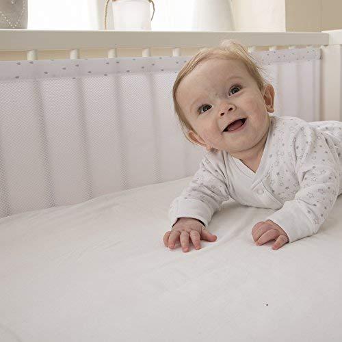 PurFlo PurAir - Atmungsaktives Stoßfänger für Kinderbetten - Babybett Nestchen Baby Kantenschutz Bettausstattung, Unisex, Farbe Tropfenform