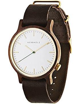 Kerbholz Herren-Armbanduhr Walter Analog Quarz Leder 0705184599899