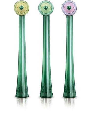 Philips Sonicare Ersatzdüsen für AirFloss zur elektrischen Zahnzwischenraumreinigung HX8013/07, 2300 Watt, 3er