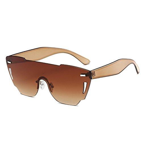 ZYPMM 2017 Europa und die Vereinigten Staaten Mode Damen Sonnenbrille neue Strand Brille ozeanischen Film Stück der einzelnen Sonnenbrillen ( Color : Braun )
