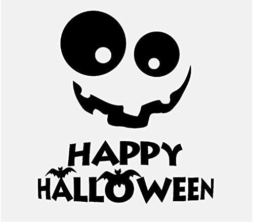PVC-Wandaufkleber, schwarzer Halloween-Lächeln-Feiertags-Dekor für Abziehbild-Haus 56.3CM * 60.9CM