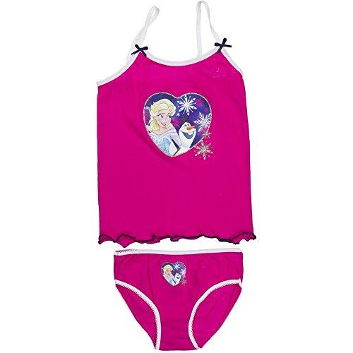 4781 Kinder Mädchen Unterwäsche DISNEY FROZEN 2-teilig Hemd u. Schlüpfer (pink, 4/5=104/110) (2-teiliges Mädchen Unterwäsche-set)