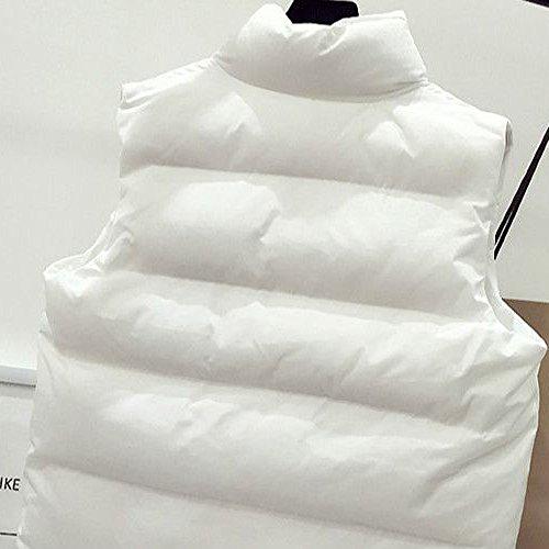 Sunenjoy Gilet Manteau Femme Cardigan Chaud Parka Hiver Mantaeaux Fleece Coat Elegant Pullover Rembourrée Veste Vintage Jacke Blouson Mode Bomber Militaire Style Blanc