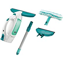 Leifheit 51016finestra Aspirapolvere Dry and Clean Set completo, ABS/Silicone/TPE/PA6/PP/Steel, turchese/bianco, 15x 28x 31,5cm