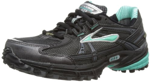 Brooks Adrenaline Gtx W, Damen Sneaker Schwarz (türkis/schwarz/shadow/sliver)