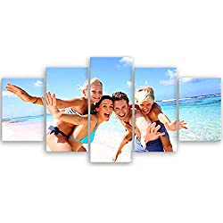 ge Bildet® hochwertiges Leinwandbild - Ihr eigenes Foto - Ihr Wunsch-Motiv auf Künstler-Leinwand - 100 x 50 cm mehrteilig (5 teilig) 2175