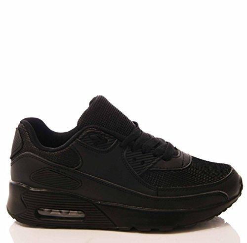 Uomini ragazzi scarpe ginnastica con lacci palestra corsa jogging educazione fisica casual comodo fitness scarpe numeri Nero
