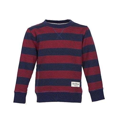 Band of Rascals Kinder Sweatshirt Langarm Striped Bio-Baumwolle (146, Navy-red) Band Sweatshirt